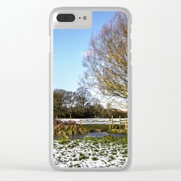 A Cold Morning in Tidmarsh Meadows Clear iPhone Case