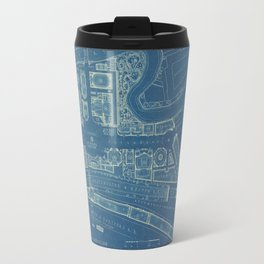 1916 Plans Bronx International Exposition, Vintage Drawing Travel Mug