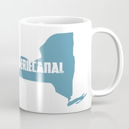 Erie Canal in NY State - Blue Coffee Mug