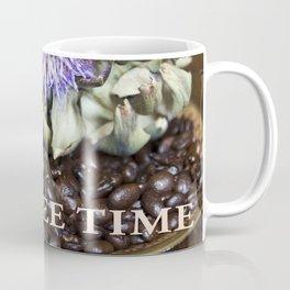 Coffee Beans and Blue Flower of Artichoke Coffee Mug