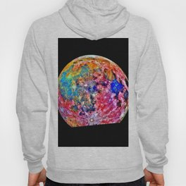 Colorful Moon Surface Hoody