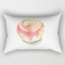 Apple drawn with color pencils Rectangular Pillow