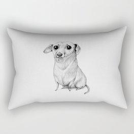 Monochrome Dachshund Rectangular Pillow