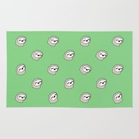 sloths Area & Throw Rugs featuring Sloth Party! by Jarvis Glasses