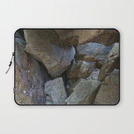 Natural Beach Rock Cave Texture Cornwall Laptop Sleeve