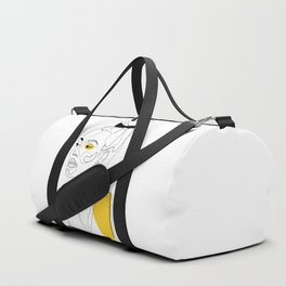 Yellow Sketch Duffle Bag