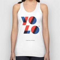 yolo Tank Tops featuring Yolo by Wharton