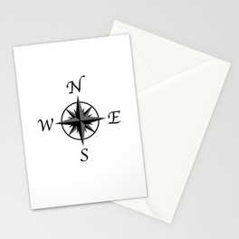 Compass Arrows Stationery Cards
