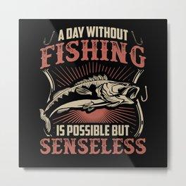 Fisher Fishing Fish Metal Print