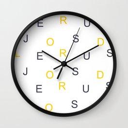Christian Prophetic Spiritual Warfare LORD JESUS Wall Clock