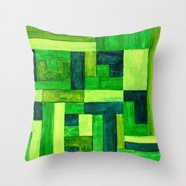 Garden Blocks Throw Pillow