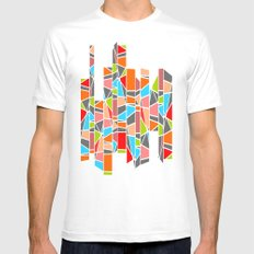 Color mosaic Mens Fitted Tee MEDIUM White