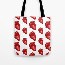 Anatomical Hearts - Red Tote Bag