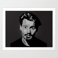 johnny depp Art Prints featuring Johnny Depp by Tori Kim
