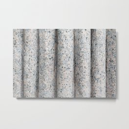Carved Granite Curved Texture Metal Print