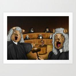 Everybody judges Art Print
