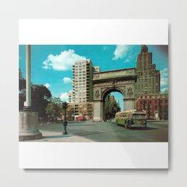 Washington Square Park in Greenwich Village - New York - 1950's - Washington Arch - Fifth Avenue Metal Print
