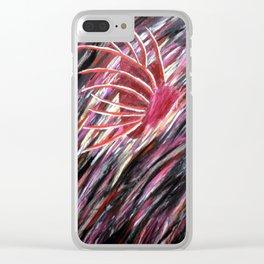 Lionfish, Portrait Subtraction Clear iPhone Case