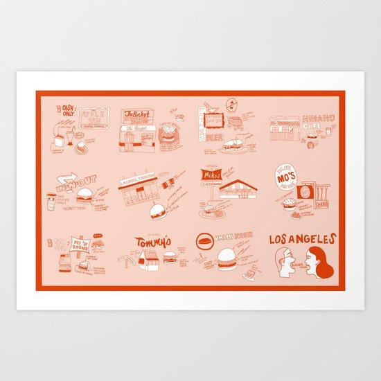 Tour De Burgers Art Print