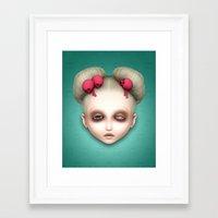 misfits Framed Art Prints featuring Misfits - Hildi by Raymond Sepulveda