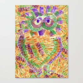 Purple Owl Canvas Print