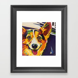 Pop Art Corgi Framed Art Print