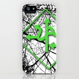 Arrows - Green iPhone Case