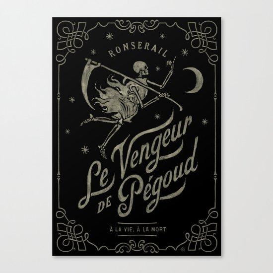 Le Vengeur de Pégoud (black/gold) Canvas Print