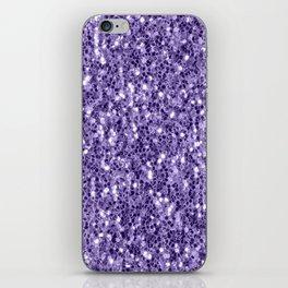 Ultra violet purple glitter sparkles iPhone Skin
