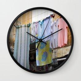 LAUNDRY DAY - Catania - Sicily Wall Clock