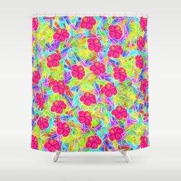 Hawaiian Pink Flowers Shower Curtain