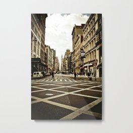 Broadway Crosswalk Metal Print