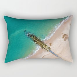 The Rocks at The Shore Divide (Color) Rectangular Pillow