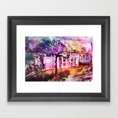 THE WATERCOLOR MAGIC HOUSE     FRENCH OLD HOUSE Framed Art Print