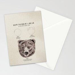 circle, circle, bear Stationery Cards