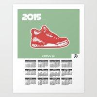 calendar 2015 Art Prints featuring 2015 Calendar  by Cierra Conley