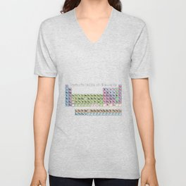 Periodic Table Of Elements Unisex V-Neck