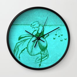 Beetles Are Jerks Wall Clock