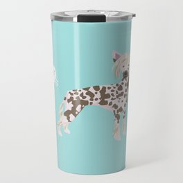 chinese crested funny farting dog breed gifts Travel Mug