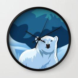 Lonely Polar Bear Wall Clock