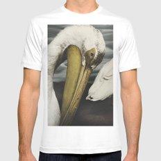 Tom Feiler Pelican White Mens Fitted Tee MEDIUM