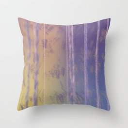 Abstract Yellow and Purple Throw Pillow