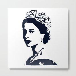 Young Queen in Blue Metal Print