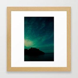 Lights will guide you home. Framed Art Print