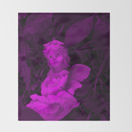 Broken Dreams In Purple Throw Blanket