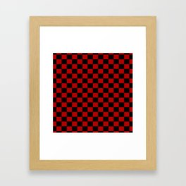 Checkers - Black and Red Framed Art Print
