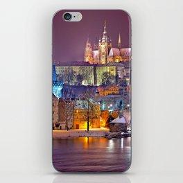 Prague-winte night iPhone Skin