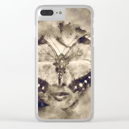 Butterfly lady Clear iPhone Case