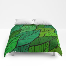 Lush / Leaf Pattern Comforters