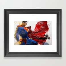 Watercolour Superman Framed Art Print